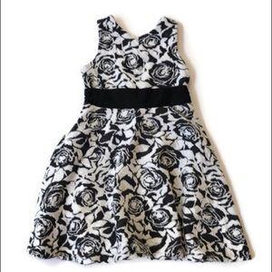Janie & jack black floral lined dress
